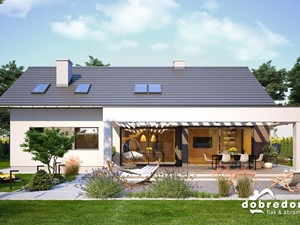 Kama – projekt klasycznego domu z oryginalnym tarasem