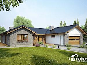 Projekt domu Dakota II z wizualizacją wnętrz