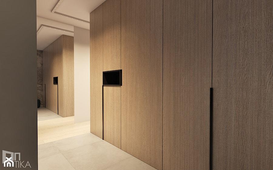 Mieszkanie z marmurem, Katowice 80 m2 - Średni biały beżowy hol / przedpokój, styl minimalistyczny - zdjęcie od TIKA DESIGN