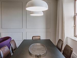 Kancelaria notarialna. - Małe beżowe biuro domowe w pokoju - zdjęcie od TIKA DESIGN