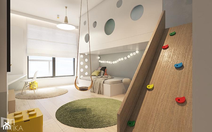 Aranżacje wnętrz - Pokój dziecka: Mieszkanie z marmurem, Katowice 80 m2 - Duży szary pokój dziecka dla chłopca dla dziewczynki dla ucznia dla malucha dla nastolatka, styl minimalistyczny - TIKA DESIGN. Przeglądaj, dodawaj i zapisuj najlepsze zdjęcia, pomysły i inspiracje designerskie. W bazie mamy już prawie milion fotografii!