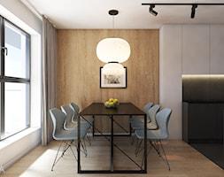 Mieszkanie w Katowicach, 90 m2 - Średnia otwarta biała beżowa jadalnia jako osobne pomieszczenie, s ... - zdjęcie od TIKA DESIGN - Homebook