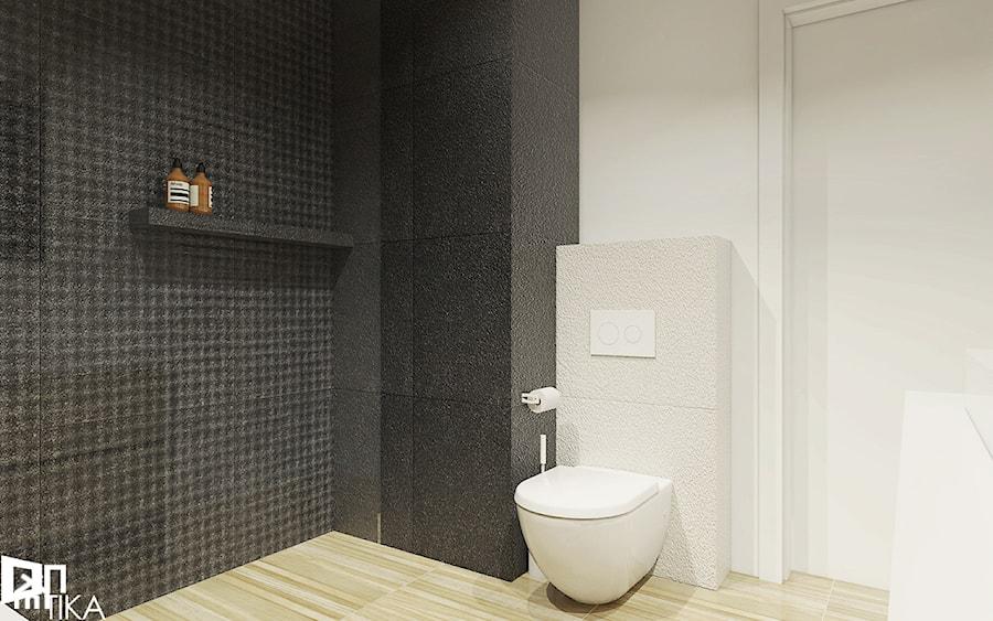 Projekt mieszkania w Rzeszowie, 65 m2 - Łazienka, styl nowoczesny - zdjęcie od TIKA DESIGN