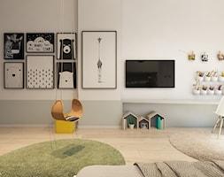 Mieszkanie z marmurem, Katowice 80 m2 - Średni szary pokój dziecka dla chłopca dla nastolatka, styl minimalistyczny - zdjęcie od TIKA DESIGN