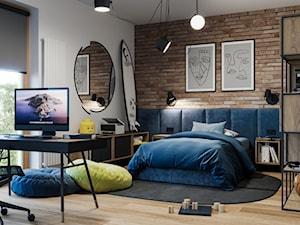 Pokój nastolatka! - Duży biały pokój dziecka dla chłopca dla dziewczynki dla ucznia dla nastolatka, styl industrialny - zdjęcie od NAVY