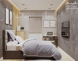 Wystrój sypialni w domu jednorodzinnym - zdjęcie od Senkoart Design - Homebook