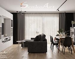 Projekt salonu w nowoczesnym stylu - zdjęcie od Senkoart Design - Homebook