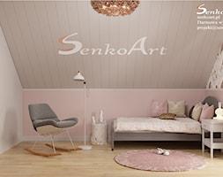 Pokój dziecięcy dla dziewczynki w nowoczesnym stylu - zdjęcie od Senkoart Design - Homebook