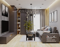 Projekt Salonu w Domu Jednorodzinnym - zdjęcie od Senkoart Design - Homebook