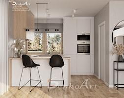 Projekt jadalni z elementami drewna - zdjęcie od Senkoart Design - Homebook