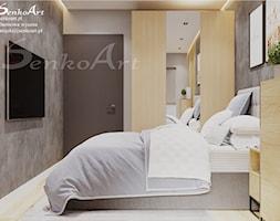 Sypialnia z drewnianymi elementami - zdjęcie od Senkoart Design - Homebook