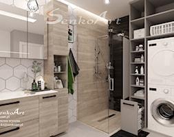 Projekt łazienki nowoczesnej w domu jednorodzinnym - zdjęcie od Senkoart Design - Homebook