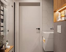 Aranżacja łazienki z wykorzystaniem elementów drewna - zdjęcie od Senkoart Design - Homebook