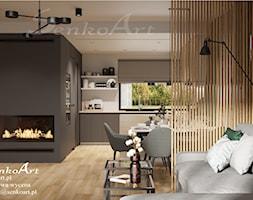 Projekt salonu nowoczesnego w domu jednorodzinnym - zdjęcie od Senkoart Design - Homebook
