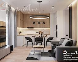 Projekt kuchni z salonem w mieszkaniu - zdjęcie od Senkoart Design - Homebook