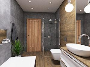 Projekt dużej łazienki w domu prywatnym