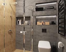 Projekt łazienki w domu prywatnym - Średnia łazienka w bloku w domu jednorodzinnym bez okna, styl nowoczesny - zdjęcie od PROJEKTOWNIA Małgorzata Woldańska