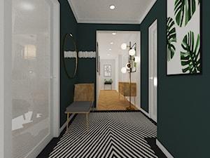 Projekt wnętrz mieszkania na Żoliborzu - Duży czarny hol / przedpokój - zdjęcie od PROJEKTOWNIA Małgorzata Woldańska