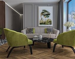 Apartament w Krakowie - Salon, styl nowojorski - zdjęcie od e interiors - Homebook