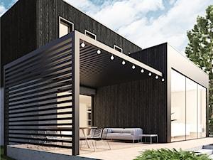 dom jednorodzinny z drewna w technologii Shou sugi ban