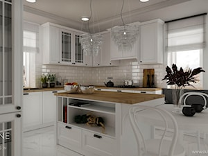 Białe kuchnie w stylu klasycznym
