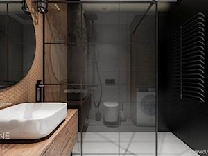 Mieszkanie w stylu industrialnym - Średnia łazienka w bloku w domu jednorodzinnym bez okna, styl industrialny - zdjęcie od Outline of Design