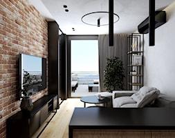 Mieszkanie 40m2 - Salon, styl industrialny - zdjęcie od Outline of Design - Homebook