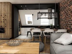 Nowoczesna mieszkanie na poddaszu w stylu industrialnym