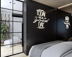 Mieszkanie 40m2 - Sypialnia, styl industrialny - zdjęcie od Outline of Design - Homebook