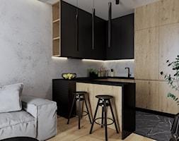 Mieszkanie 40m2 - Kuchnia, styl industrialny - zdjęcie od Outline of Design - Homebook