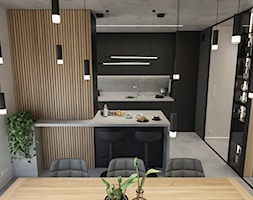 WARSZAWA, NOWY MARYSIN - MIESZKANIE - Kuchnia, styl industrialny - zdjęcie od MIRAI STUDIO - Homebook