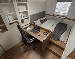 KRAKÓW, START CITY - MIESZKANIE - Sypialnia, styl minimalistyczny - zdjęcie od MIRAI STUDIO - Homebook