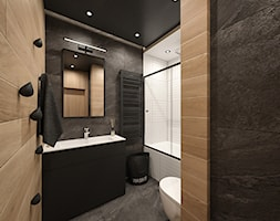 KRAKÓW, ZABŁOCIE, ATAL RESIDENCE - MIESZKANIE - Średnia łazienka w bloku w domu jednorodzinnym bez okna, styl minimalistyczny - zdjęcie od MIRAI STUDIO
