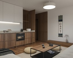 KRAKÓW, START CITY - MIESZKANIE - Salon, styl minimalistyczny - zdjęcie od MIRAI STUDIO - Homebook