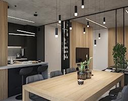 WARSZAWA, NOWY MARYSIN - MIESZKANIE - Jadalnia, styl industrialny - zdjęcie od MIRAI STUDIO - Homebook