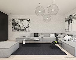 OLKUSZ, SŁONECZNA - DOM - Salon, styl minimalistyczny - zdjęcie od MIRAI STUDIO - Homebook