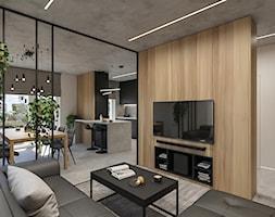 WARSZAWA, NOWY MARYSIN - MIESZKANIE - Salon, styl industrialny - zdjęcie od MIRAI STUDIO - Homebook