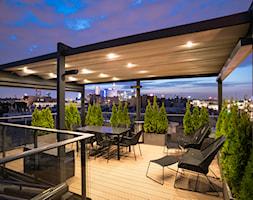 Tarasola Flat - Duży taras z tyłu domu na dachu, styl nowoczesny - zdjęcie od Tarasola