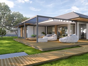 Tarasola Flat - Duży taras z tyłu domu, styl nowoczesny - zdjęcie od Tarasola