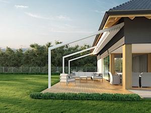 Tarasola Light - Duży taras z tyłu domu, styl nowoczesny - zdjęcie od Tarasola