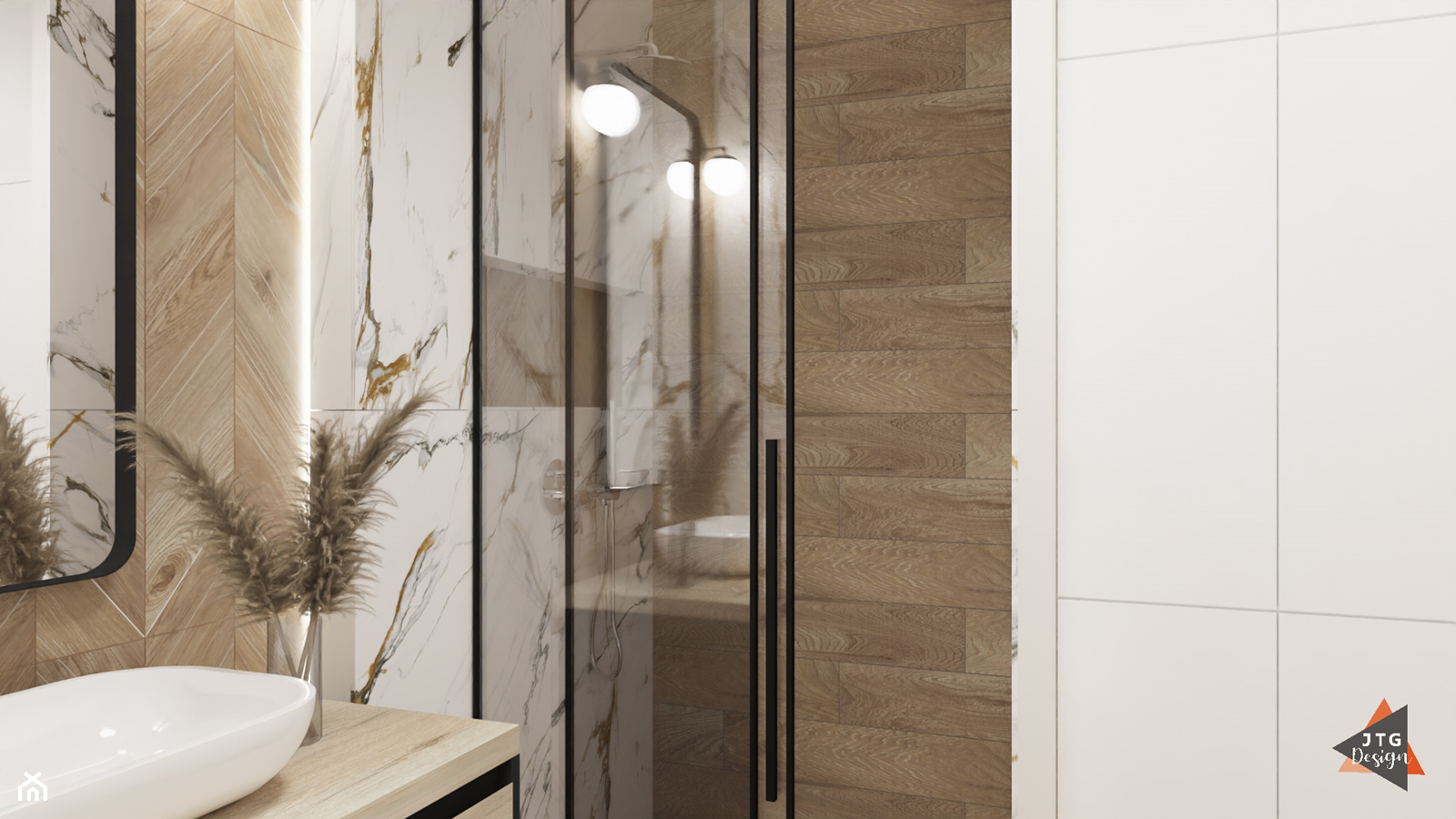 łazienka - marmur i drewno - Łazienka, styl klasyczny - zdjęcie od JTG Design - Homebook