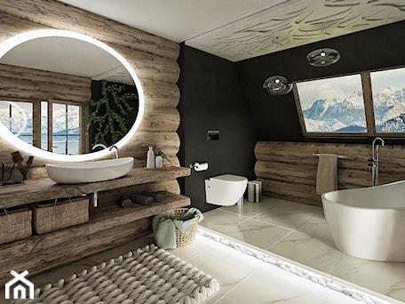 Aranżacje wnętrz - Łazienka: Góralska łazienka - Chrobotek Design. Przeglądaj, dodawaj i zapisuj najlepsze zdjęcia, pomysły i inspiracje designerskie. W bazie mamy już prawie milion fotografii!