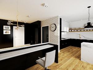 Projekt biura w Pleszewie - Średni czarny szary hol / przedpokój, styl klasyczny - zdjęcie od Interior Koncept Projektowanie Wnetrz