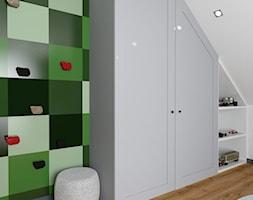 Projekt pokoju ucznia - Średni biały pokój dziecka dla chłopca dla dziewczynki dla malucha, styl tradycyjny - zdjęcie od Interior Koncept Projektowanie Wnetrz