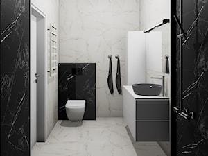 Czarno-biała łazienka: klasyka, która broni się sama