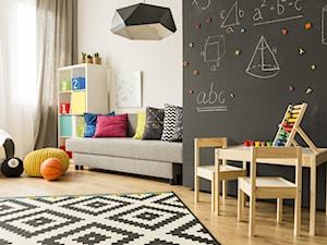 Aranżacje - Średni biały czarny pokój dziecka dla chłopca dla dziewczynki dla ucznia dla malucha, styl eklektyczny - zdjęcie od Farby Sigma Coatings. Liczy się efekt.