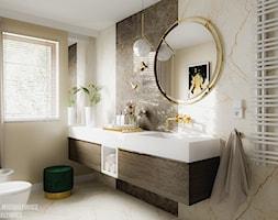 Zielona Góra Wnętrze Eleganckiej łazienki Projekt Wnętrza