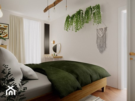 Aranżacje wnętrz - Sypialnia: Oliwkowa sypialnia z charakterem - WOJTYCZKA Pracownia Projektowa. Przeglądaj, dodawaj i zapisuj najlepsze zdjęcia, pomysły i inspiracje designerskie. W bazie mamy już prawie milion fotografii!