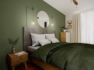 Oliwkowa sypialnia z charakterem