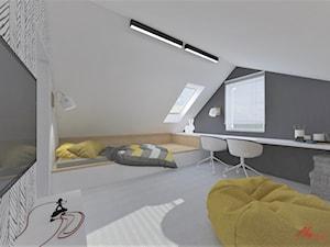 Pokój dla chłopca na poddaszu - zdjęcie od ASdesign
